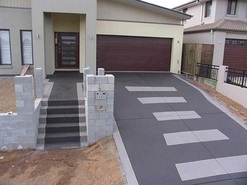 Decorative Concrete Finish - driveways paths high traffic areas