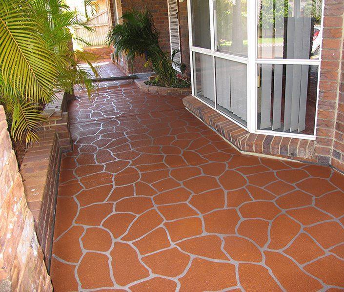 Cobblestone Concrete Stencil Pattern
