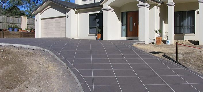 Concrete Driveway Restoration Sunshine Coast - creative artistic finishes