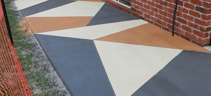 Decorative Concrete Stencil Sunshine - outstanding finish expert concreters